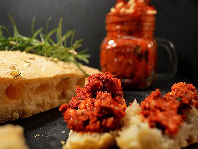 VITALIA Blog Teaser Fladenbrot mit Tomatenpesto