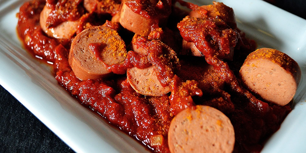 VITALIA Rezept Banner Feurig scharfe Currywurst Soße